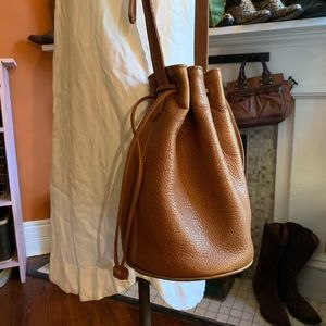 Rare Vintage Coach Drawstring Bucket Bag